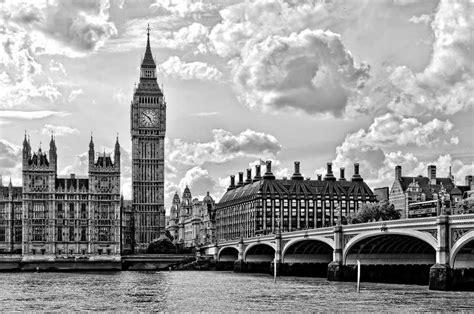 Imagenes En Blanco Y Negro De Londres | cuadro en lienzo con bastidor londres big ben blanco y