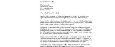 Letter To Judge Template by How To Write A Letter The Judge Before Sentencing Sle