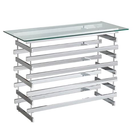glass and chrome sofa table chrome and glass sofa table
