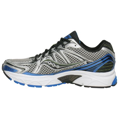 saucony running shoes progrid jazz 15 road running shoes silver black blue mens