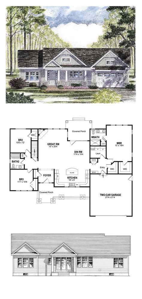2 Bedroom Ranch Floor Plans ranch floor plans on pinterest ranch house plans ranch style floor