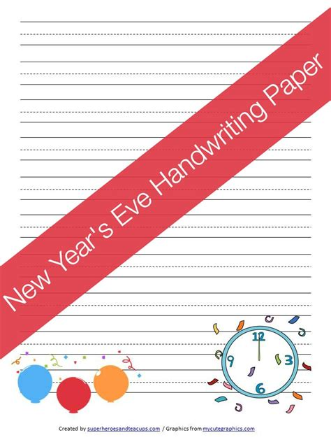 new year writing paper free printable new year s handwriting paper
