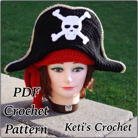 pattern for pirates hat crochet pattern adult pirate hatpirate hat crochet