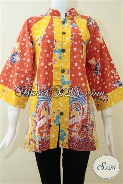 Baju Batik Pastel Kuning baju atasan batik kombinasi warna oranye kuning bagus keren bls1252p m toko batik 2018