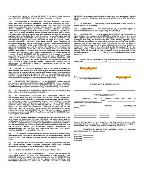 cancellation letter of condo units sle lease contract for apartment or condominium unit