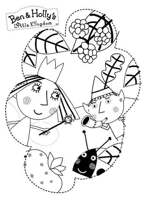 princess holly coloring page ben and holly printable coloring pages free printable ben