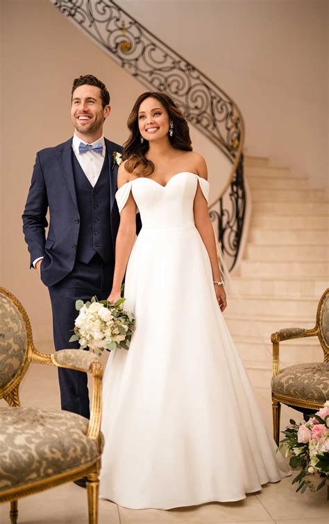 simple satin wedding dress stella york wedding gowns