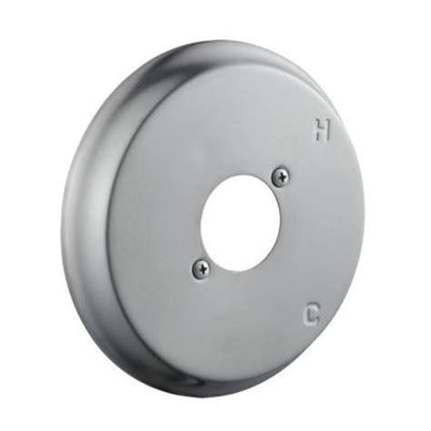 design house shower escutcheon plate kit in satin nickel