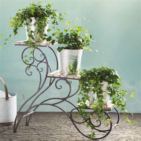 multi tiered plant stand decoracao de ferro forjado
