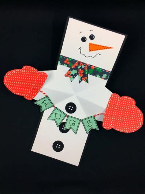 snowman creative pop up card template snowman twist and pop card maymay made it
