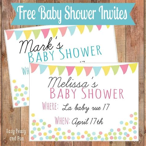 Where Can I Shower For Free by Free Printable Baby Shower Invitation Easy Peasy And