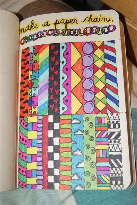 How Do You Make A Paper Chain - wreck this journal journal pages ideas and search