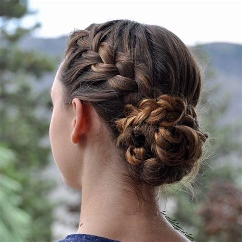 put your hair in a bun with braids 17 best ideas about messy french braids on pinterest