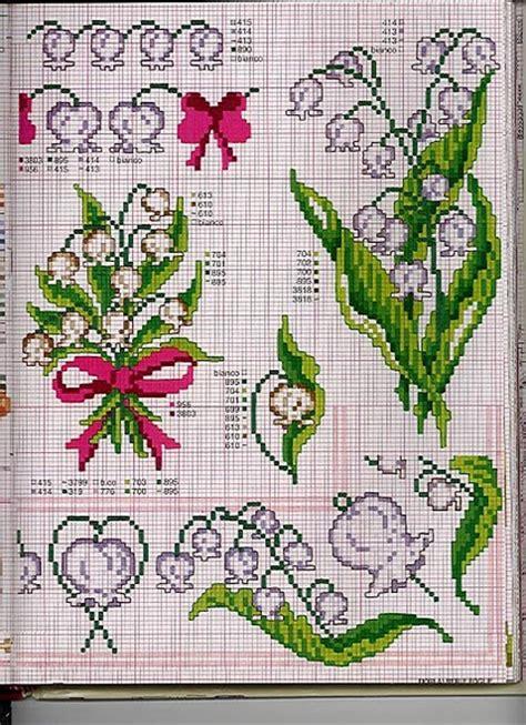 schemi punto croce gratis fiori fiori mughetti magiedifilo it punto croce uncinetto