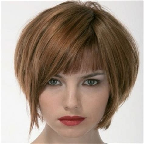 a line bob with bangs 6 fashionable hairdos for short hair different