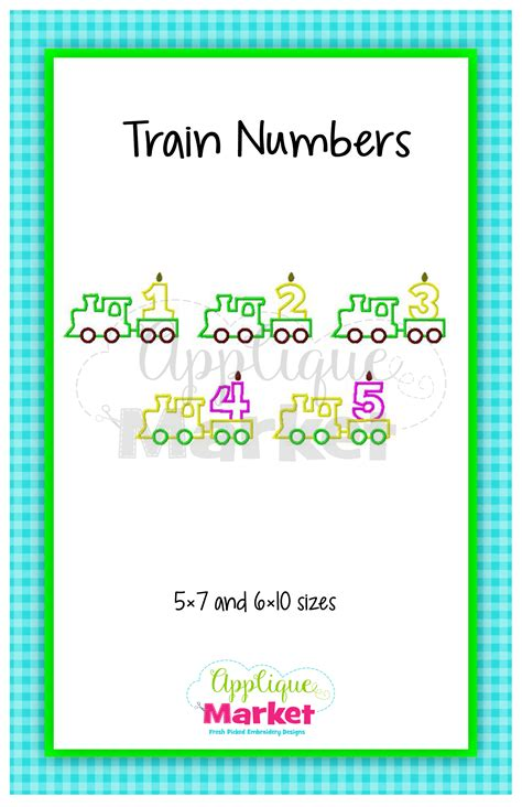 printable font app train numbers applique fabric design