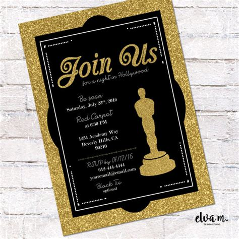 oscar invitation template oscar invitation academy awards invite