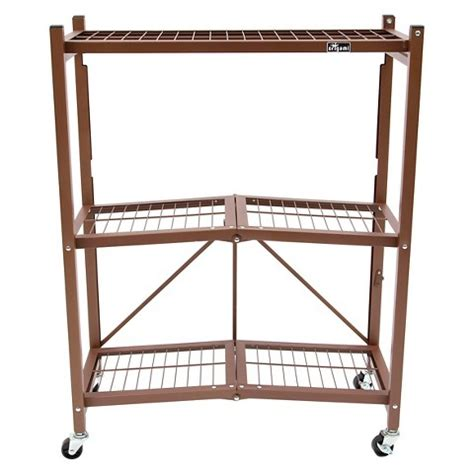 Origami 3 Tier Folding Storage Shelves - origami 3 tier wire utility shelf with wheels target