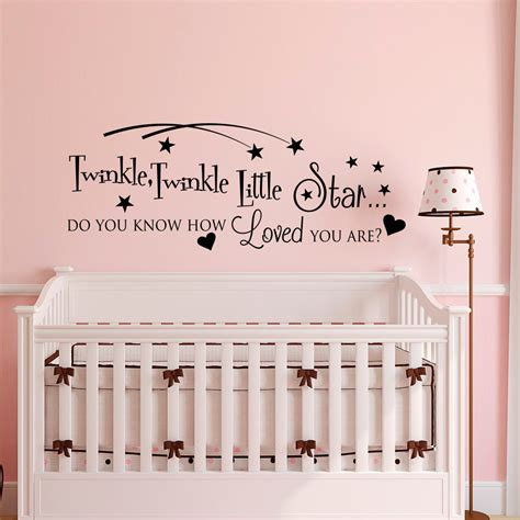 twinkle twinkle wall stickers twinkle twinkle wall decal quote nursery wall