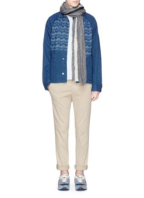 Jaket Levis Boy Bioblitz Jaket Levis Raglan Denim Hoodie Fleece scotch soda mr blue workwear denim jacket in blue for