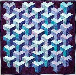 Free Tumbling Blocks Quilt Pattern by Free Tumbling Leaves Quilt Block Pattern