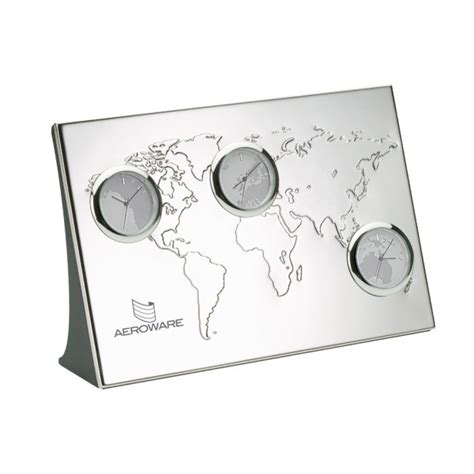 nickel plated desk l printed nickel plated desk clock usimprints