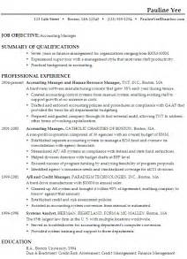 Resume Summary Or Objective by Doc 612792 Exle Resume Basic Resume Objective Statements Accountingand Bizdoska