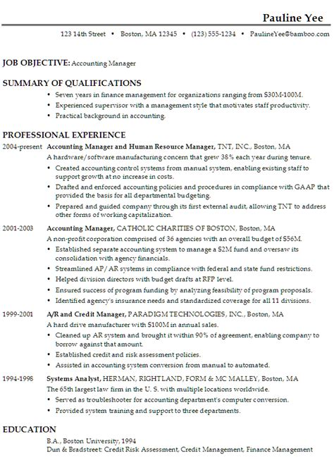 objective summary for resume objective resume sle best