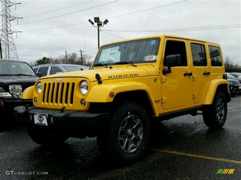 yellow jeep 2015 baja yellow jeep wrangler unlimited rubicon 4x4
