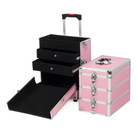 Makeup Cases With Drawers by 4 In1 Aluminum Rolling Makeup Wheel Cosmetic