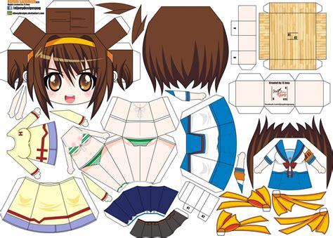 paper crafts anime haruhi suzumiya joey s chibi 020 by eljoeydesigns