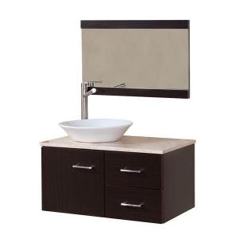Home Depot Bathroom Vanity Sink Combo Domani Sicily 30 1 2 In Vanity Combo In With Vanity Top In Travertine And