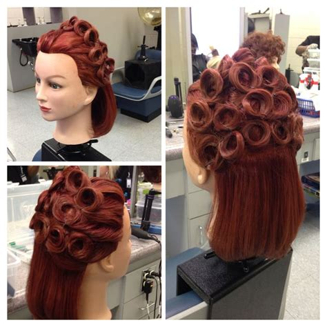 images  mannequin styles  pinterest pin curls rockabilly hair  hairstyles