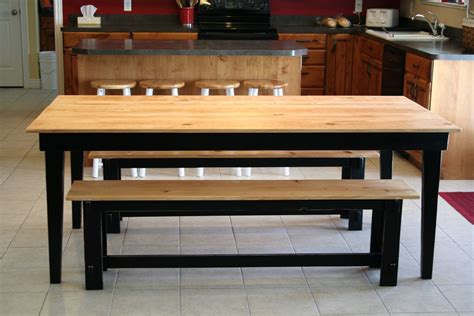 large kitchen tables with benches ana white rustic farm table and benches diy projects