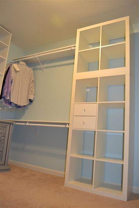 custom closet ikea hack expedit closet small walkin ikea hackers amazing walk in