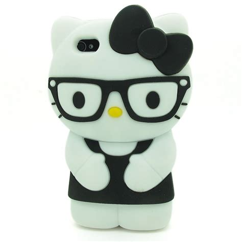 Casing Hello For Iphone 4 4s hello glasses tpu for iphone 4 4s black