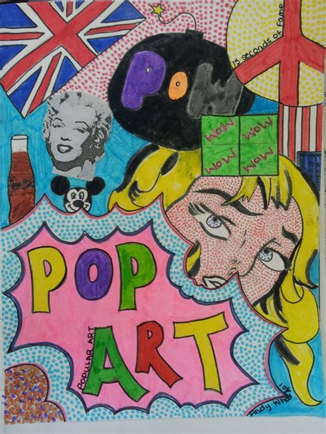painting pages pop title page yr8 lichtenstein