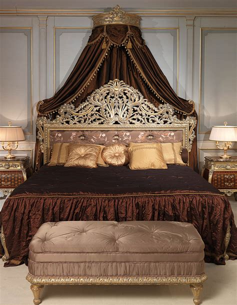 emperador gold  louis xv bedroom  carved bed