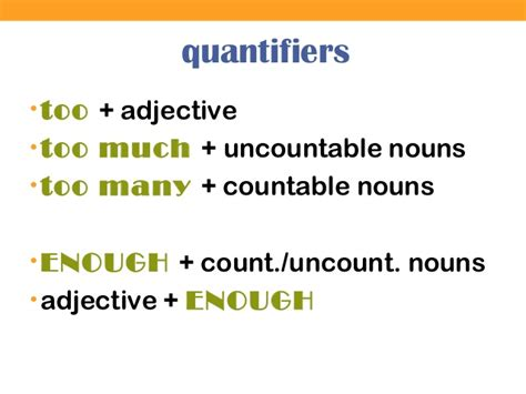 too much and not 0374535957 quantifiers