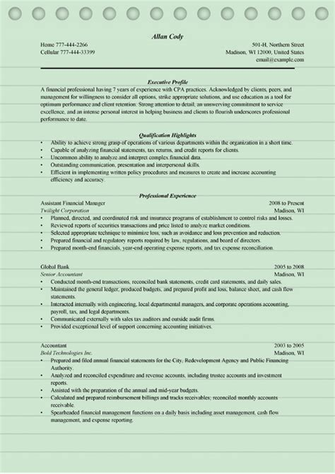 4 finance manager resume sle ms word doc format