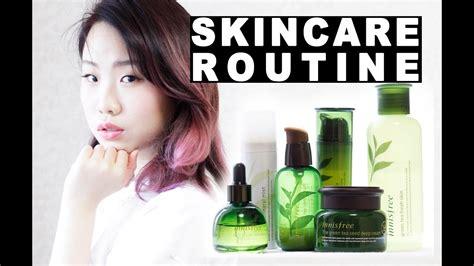 korean skincare routine review innisfree green tea