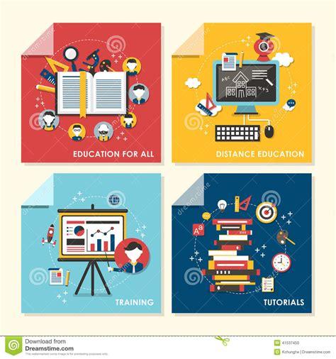 design concept training flat design concept illustration for education and