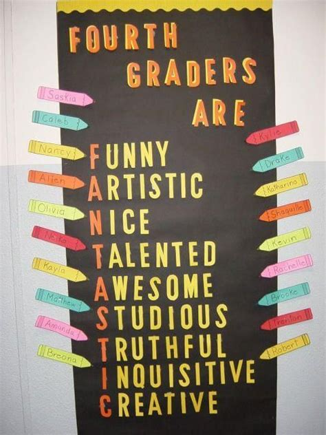 theme list for 4th graders behavior bulletin board for 4th grade 4th graders are