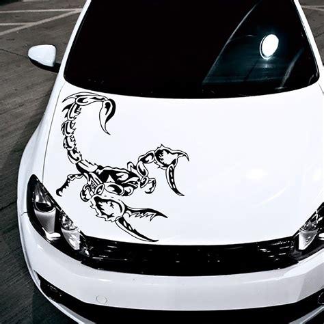 grafik design vendor hood car scorpion dangerous predators symbol animals decor