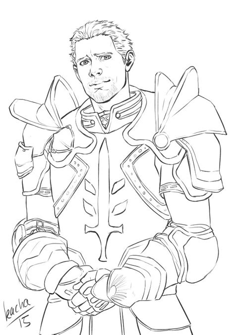 dragon age coloring page templar coloring download templar coloring