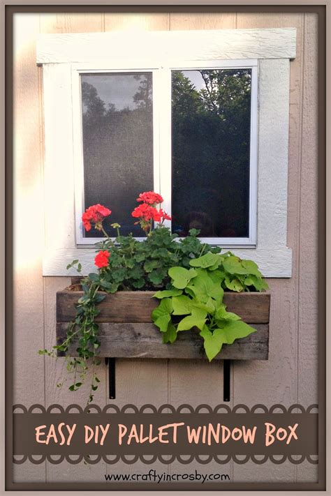 crafty in crosby easy diy pallet window box