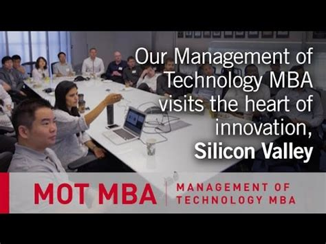 Mba Technical Management by Management Of Technology Mba Tech Tour 2015 Silicon
