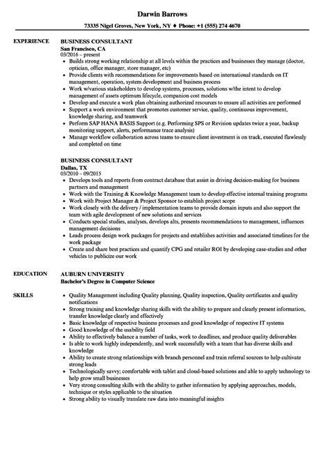 Business Consultant Resume by Business Consultant Resume Sles Velvet