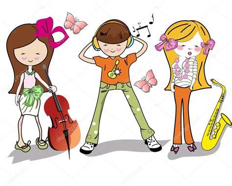 imagenes niños tocando instrumentos musicales ni 241 os de dibujos animados de moda con instrumentos